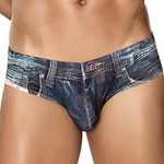 Clevermoda ʱ��ţ����ʿ��������ڿ� DENIM JEAN LATIN BRIEF